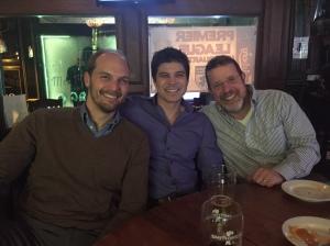 Post-board meeting in Atlanta: Joshua Eyer, PhD, Travis Lovejoy, PhD, Alex Rothman, PhD