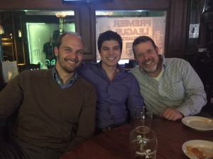 Post-board meeting in Atlanta: Joshua Eyer, PhD, Travis Lovejoy, PhD, Alex Rothman, PhD