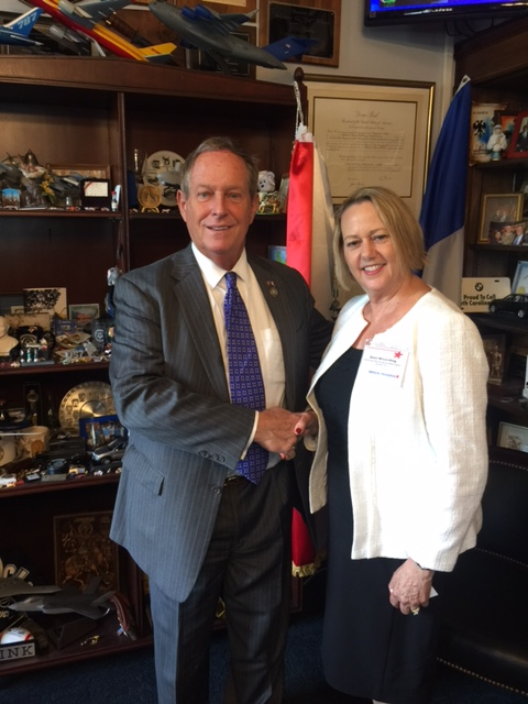 Representative Joe Wilson (R-SC) with Dawn K. Wilson, PhD (SfHP Past-President)