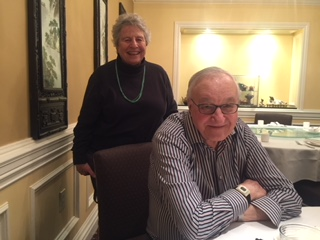 Professor Albert Bandura with Professor Kate Lorig, long-time collaborations on the Chronic Disease Self-Management Program